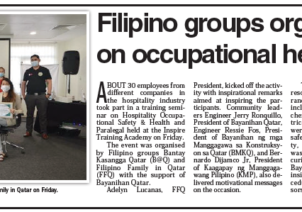 Filipino groups organize seminar on occupational health and safety